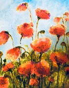Delicate Poppies - Sold