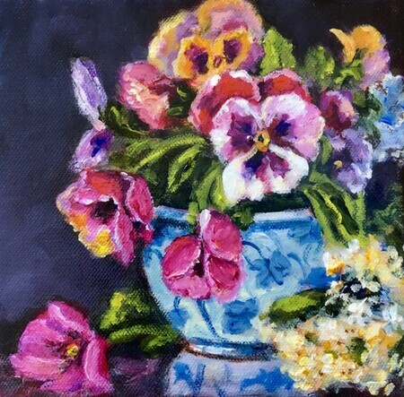 Pretty Pansies - Sold