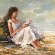 Reading by the Sea - Sold